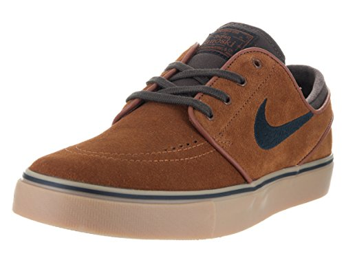 Nike Herren Zoom Stefan Janoski Skateboardschuhe, Braun (Hazelnutblackbaroque Brown 214), 46 EU
