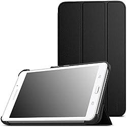 MoKo Etui Samsung Galaxy Tab A 7.0 - étui à Rabat avec Support Ultra-Mince et Léger pour Tablette Samsung Galaxy Tab A 7.0 Pouces SM-T280/SM-T285 Modèle 2016, NOIR