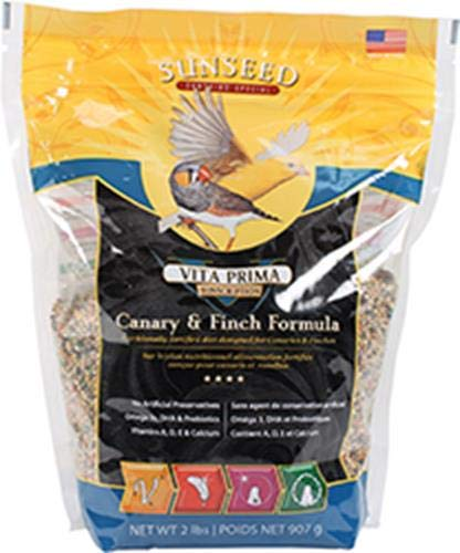 Vitakraft Vita Prima Canary Finch Formula Nutrition Fortified Bird Diet Food 2lb (Seed Finch Vita)