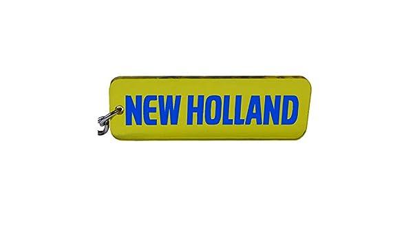 New Holland Trecker Tracteur Porte-cl/és avec embl/ème Bleu//Jaune