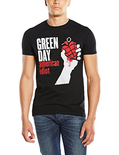 unknown-american-idiot-t-shirt-da-uomo-nero-black-m