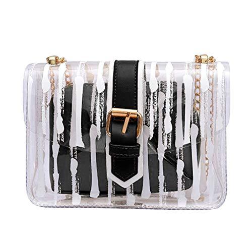parente Messenger Gestreifte Crossbody Tasche Ketten Candy Farbe Geleebeutel 2 Stücke Handtasche ()