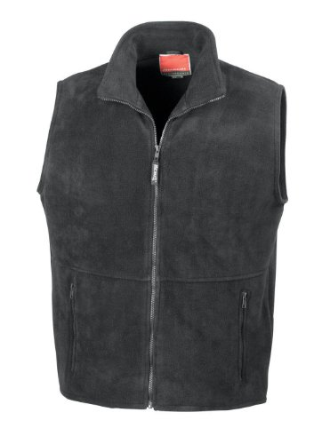 41UlMBrNbvL - Result R037X Active Fleece Bodywarmer Gilet Black 2XL