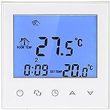 Decdeal Termostato de Calefacción Programable Smart WIFI Eléctrica con Pantalla Táctil Controlador de Temperatura con LCD Pantalla 16A 200~240V