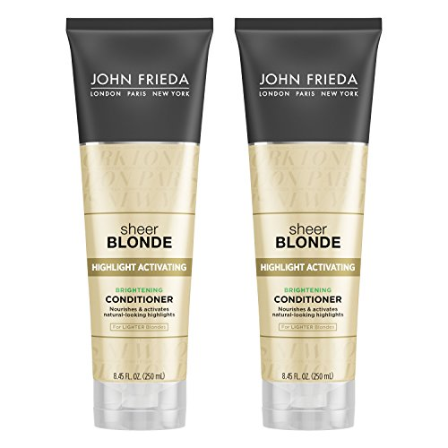 John Frieda Sheer Blonde Highlight Activating Enhancing Conditioner (for Lighter Blondes), 8.45 Ounces (Pack of 2) by KAO Brands [Beauty] (English Manual)