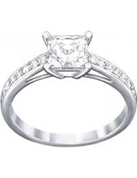 Swarovski anillos Mujer acero inoxidable vidrio