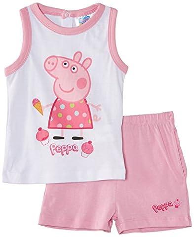 Peppa Pig Baby Girls' Treat Sleeveless Clothing Set, Optic White/Prism