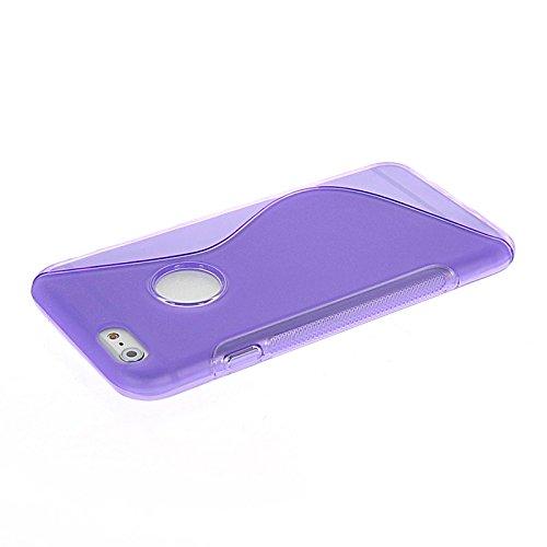 MOONCASE TPU Silicone Housse Coque Etui Gel Case Cover Pour Apple iPhone 6 Plus Gris Voilet