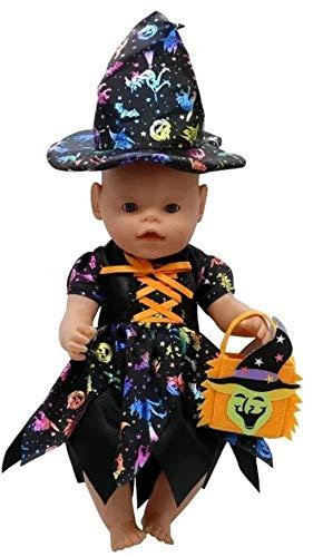Baby Born Halloween Kostüm - generisch Puppenkleidung, Kleid, Hexe, passend zb.