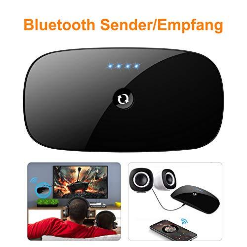 Bluetooth Adapter Sender Empfänger 2-in-1 Sender / Empfänger Adapter Stereo 3,5 mm Audiogerät Geeignet für TV / Kopfhörer / Computer / Home Stereo und Auto Audio Systeme, etc.