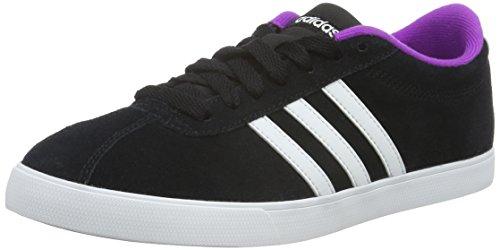 adidas Damen Courtset W Turnschuhe, Schwarz Black (Negbas / Ftwbla / Pursho)