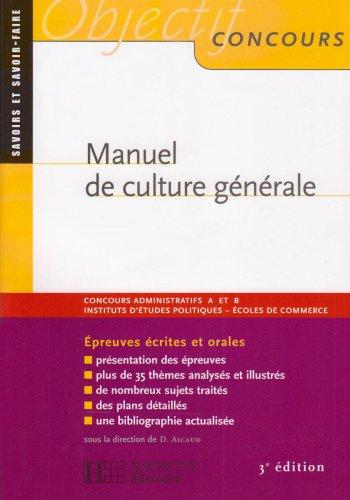 Manuel de culture gnrale