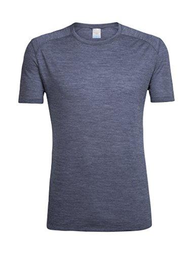 Icebreaker Herren Sphere SS Crewe T-Shirt, Midnight Navy Hthr, XL -