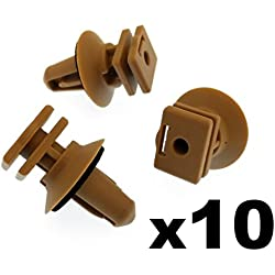 10x Interior Plastic Clips for Trims on Sill & Door Entrance- Biege Clips with seal rings (51477025224, 51477117532)