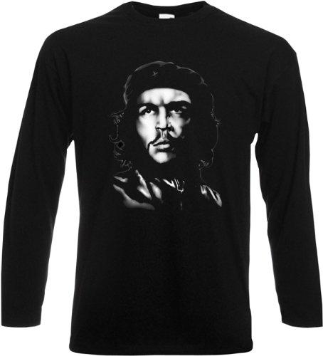 Langarm T-Shirt Che-Guevara CHE Schwarz