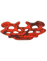Tabla de entrenamiento grande EVOLUTION 62 x 26 cm escalada Griffboard, Fingerboard, Color:rojo-moteado