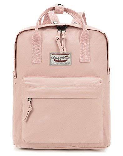 Greeniris Kausal Daypack Rucksäcke Damen Cool Schultaschen Pink 3 Pink