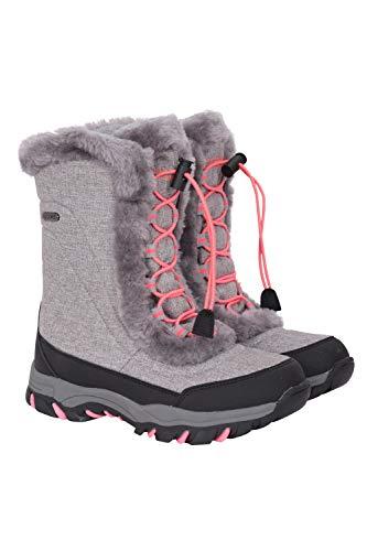 Mountain Warehouse Botas de Nieve para jóvenes de Ohio - Botas para niños Transpirables, Impermeables...