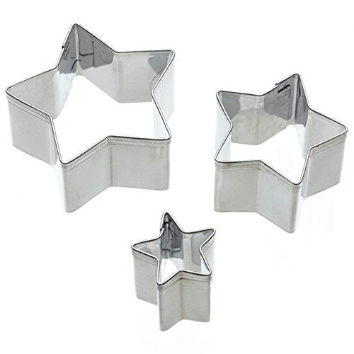 Sweetly Does It Star Shaped Fondant & Cookie Cutters - Set of 3 Shaped Cookie Cutter Set