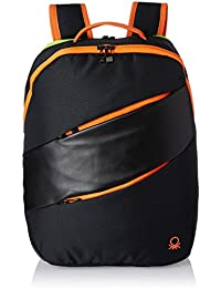 United Colors of Benetton 27 Ltrs Black Casual Backpack(17A6BKPK0L05I)