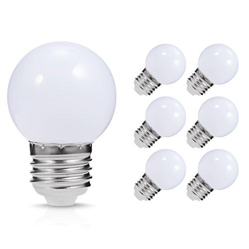 Ampoule LED E27, Jandcase 1W G45LED Ampoule de balle de golf, 10W Ampoule à incandescence...