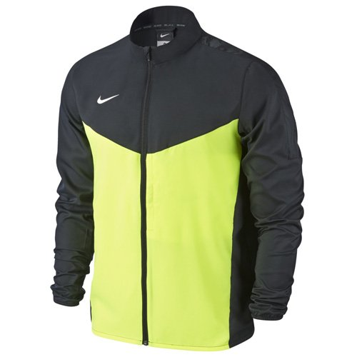 Nike Team Performance Shield - Chaqueta para hombre, Negro / Verde / Blanco (Black / Volt / White), XL