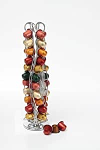 Neotechs® Revolving Rotating 40 Capsule Coffee Pod Holder Tower Stand Rack for Nespresso®