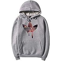 zxc Top Men 'S Sweater con Sombrero Abrigo Talla Grande,Gray,S.