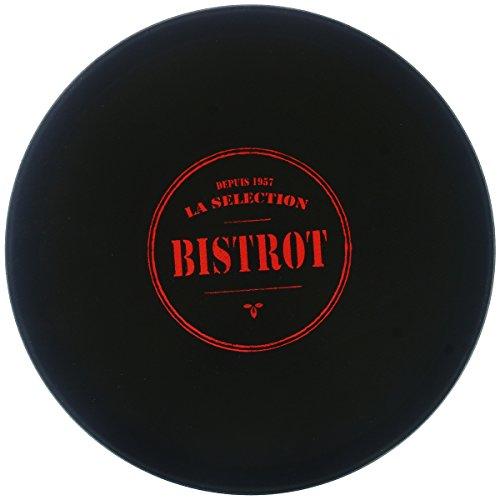 Promobo - Plateau De Présentation Antidérapant Collection Bistrot Présentoir Pro Service Cocktail Dessert Fromage Rouge