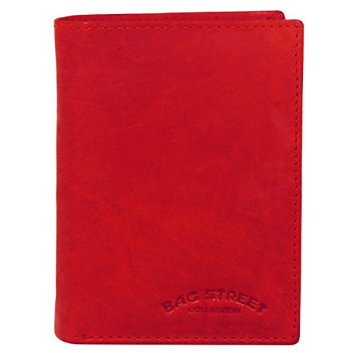 Bag Street Herren Geldbörse Leder 991C Rot