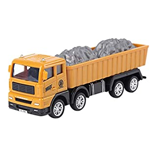 ADESHOP Toys for Kids, Mini Construction Vehicle Engineering Car Truck Model Toy Kids Gift(B 16x4.5x7.5cm)