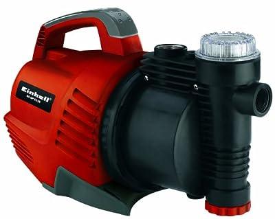 Einhell RG-GP 6536 Gartenpumpe, 650 Watt, 3750 l/h max. Fördermenge, 3,8 bar, Edelstahlanschlüsse, Rückschlagventil