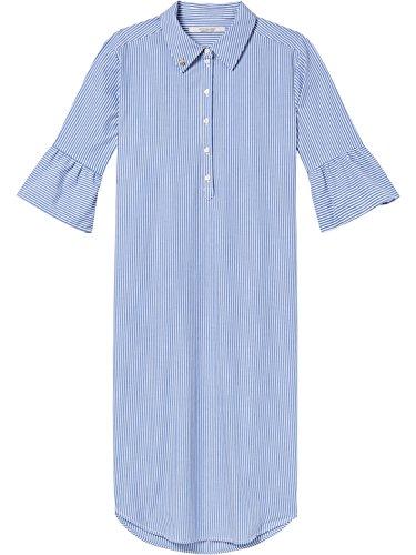Scotch & Soda Maison Damen Kleid with Ruffle Sleeve, Mehrfarbig (Combo A 17), Small