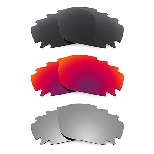 Revant Ersatzlinsen für Oakley Racing Jacket Vented Polarisiert 3 Paar Kombipack K017