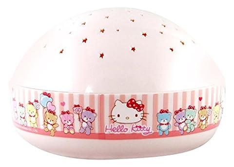 Niermann Standby 80034 Nachtlicht Hello Kitty Projektor, Plastik, rosa, 12 x 12 x 7.5 cm