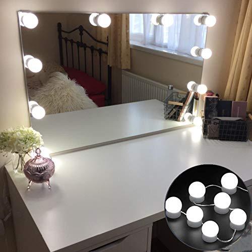 Luci per Specchi da Trucco a LED Luci per Specchi di Stile Hollywood 4M Spina di Alimentazione USB con 10 Lampadine a LED Dimmerabili per Specchio da Trucco Vanity Specchiera da Tavolo