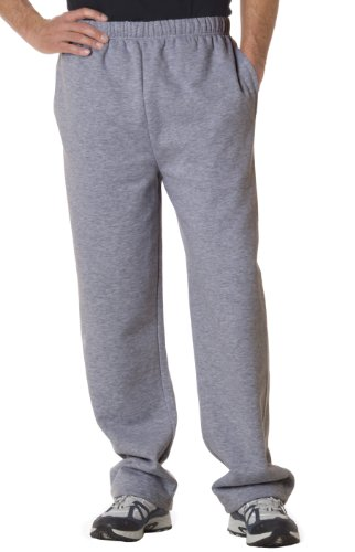 Blended Oxford (Badger Adult Blended Open-Bottom Fleece Pants (Oxford) (Large))