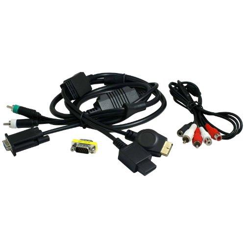 2-TECH VGA Kabel passend für PS3 und Wii mit Cinch/Adapter