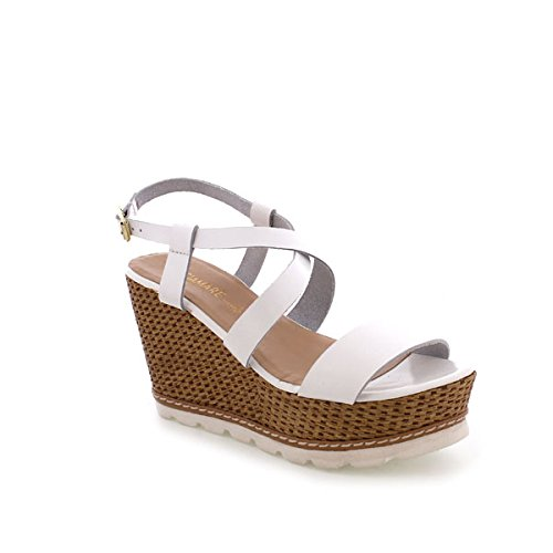 Maria Mare 66544, Chaussures à Plateforme Femme Blanc