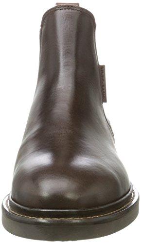 Marc OPolo Flat Heel 70824105001108, Chelsea Boots Homme Marron foncé