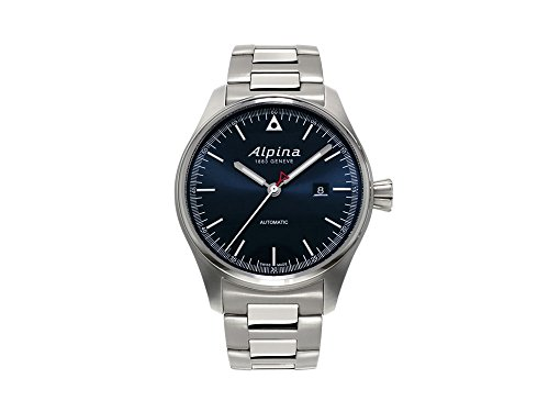 Alpina Men's 44mm Steel Bracelet Case Automatic Grey Dial Watch AL-525N4S6B