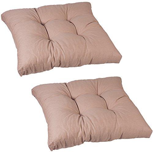beo Einfachkissen LKS AU04 Lounge Sitzkissen, circa 60 x 60 cm, 13 cm Dick, 2-er Pack, sand
