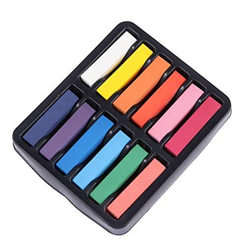 BESTOYARD Bunte Haar Kreide Waschbar Temporäre Haar Kreide Pens Haarfärbemittel Pens für einmaliges Färben 12 Stücke