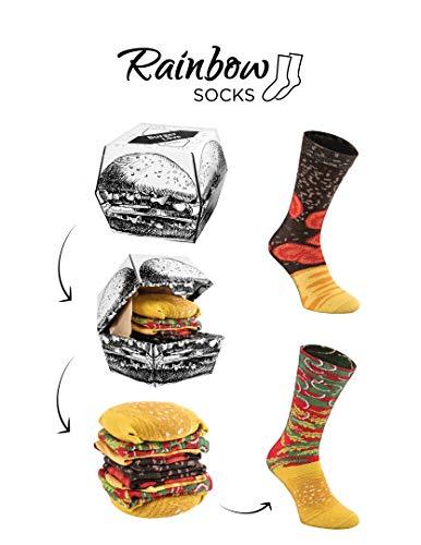 Rainbow Socks Tama/ño UE 41-46 Uomo Calze Gentiluomo Regalo 3 Paia