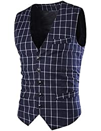 hibote Estilo de la moda británica cinco botones juego delgado chaqueta de cuello de los hombres de chaleco Maga