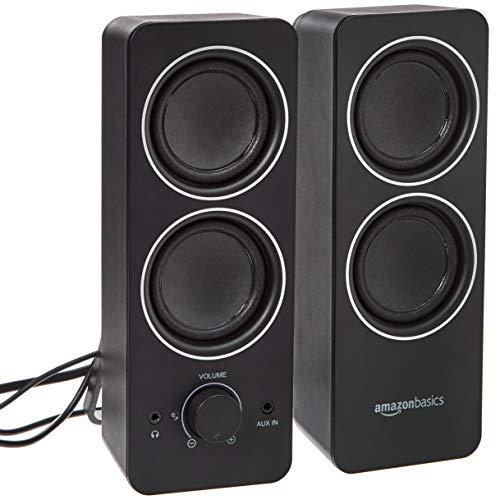 AmazonBasics - Altavoces multimedia externos, alimentación por CA