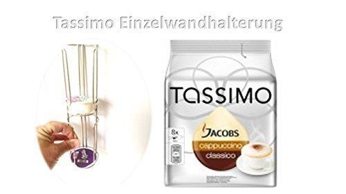 Tassimo Jacobs Cappuccino + Tasimo Wandhalterungsmodul 1 Element passt somit für 2 Sorten a 8 Stück erweiterbar auf alle Mengen weiter Sets sind lieferbar somit z.B. 16 32 48 64 80 oder 96 T Disc immer griffbereit