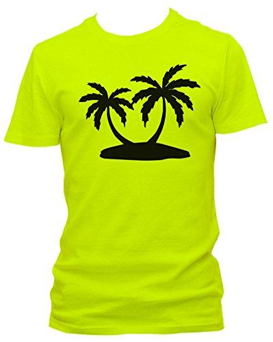 NEON Herren T-Shirt J.Roxx Palmen Fun , Größe:M;Farbe:neon gelb