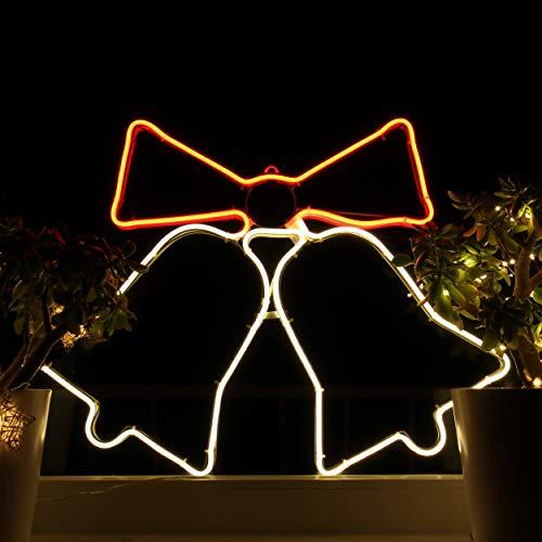 Weihnachtsdeko Fenster LED Glocken Fensterbilder Weihnachten Beleuchtet Fensterdeko Hängend Fensterdekoration mit Licht Fensterbeleuchtung (WW1)