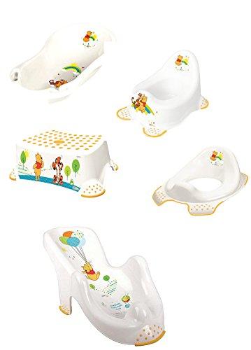 OTK Winnie Pooh Baby Pflegeset Badewanne Topferl Schemel WC-Sitz Badesitz